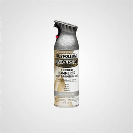 RUST OLEUM SPRAY HAMMERED ANTIQUED PEWTER