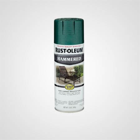 RUST OLEUM SPRAY HAMMERED DEEP GREEN